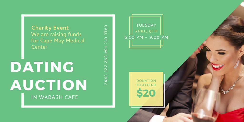 Dating Auction in Wabash Cafe — Crear un diseño