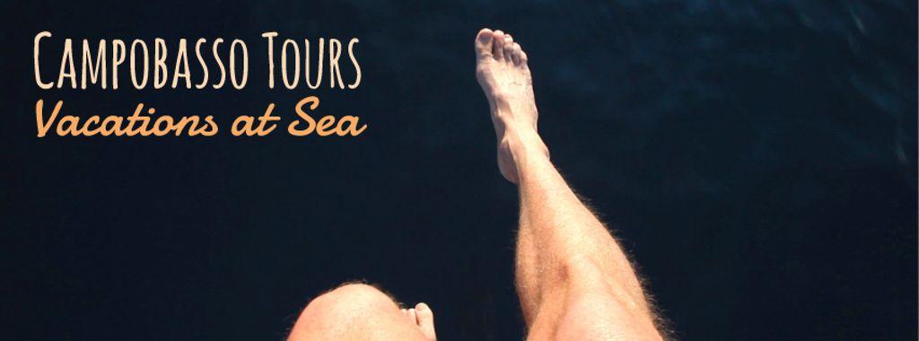 Man chattering legs over water — ein Design erstellen