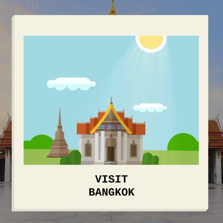 Designvorlage Visit Famous authentic Bangkok für Animated Post