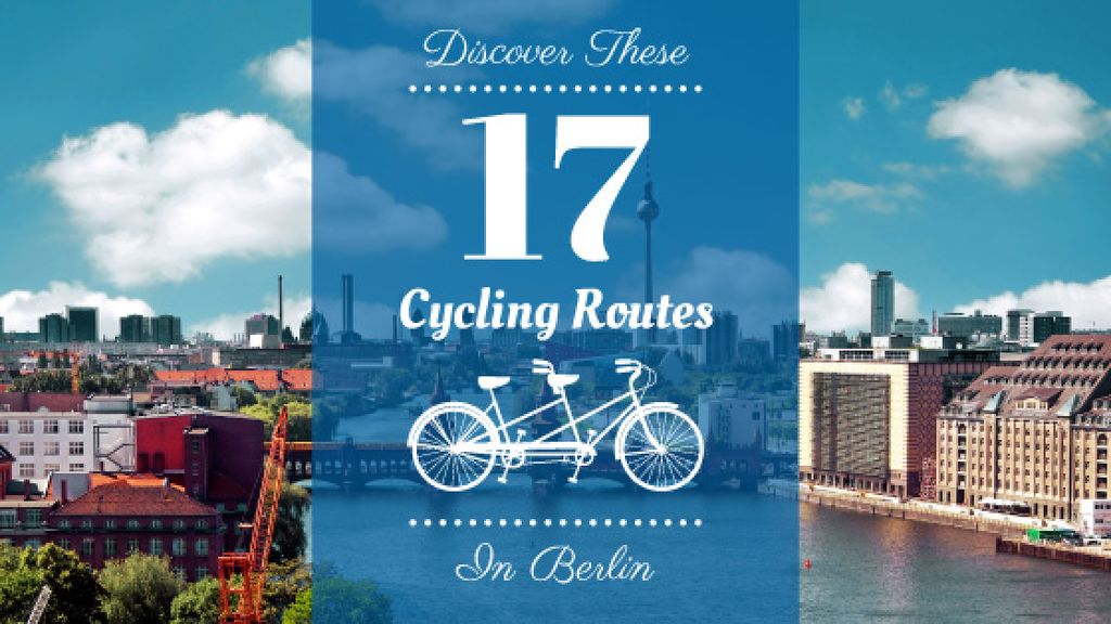 Cycling routes in Berlin poster — Crear un diseño