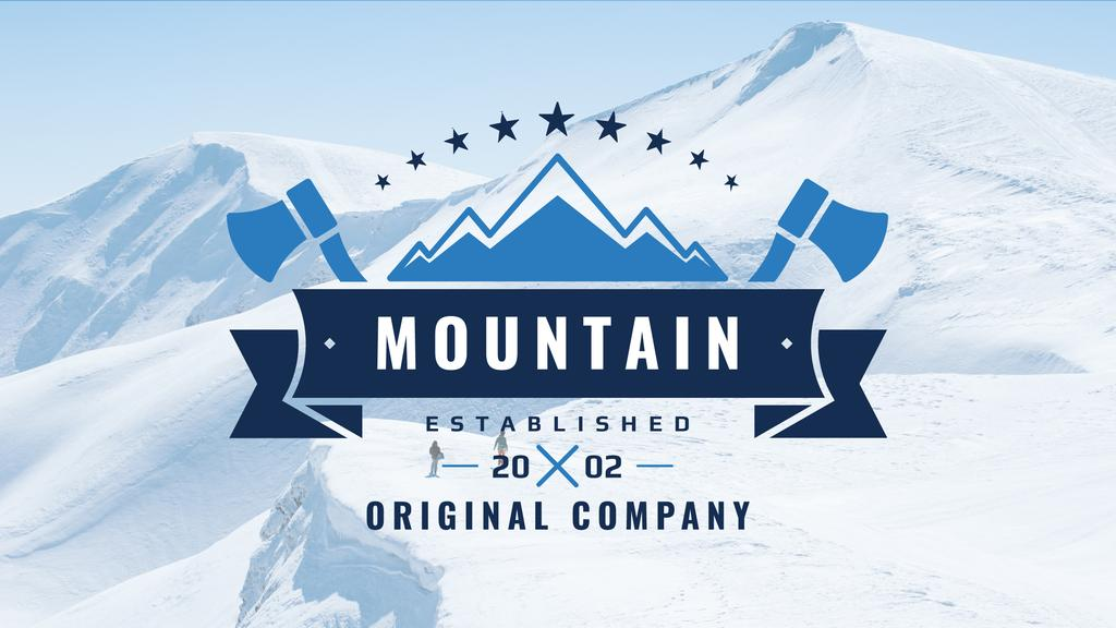 Journey Offer Mountains Icon in Blue | Youtube Channel Art — Создать дизайн