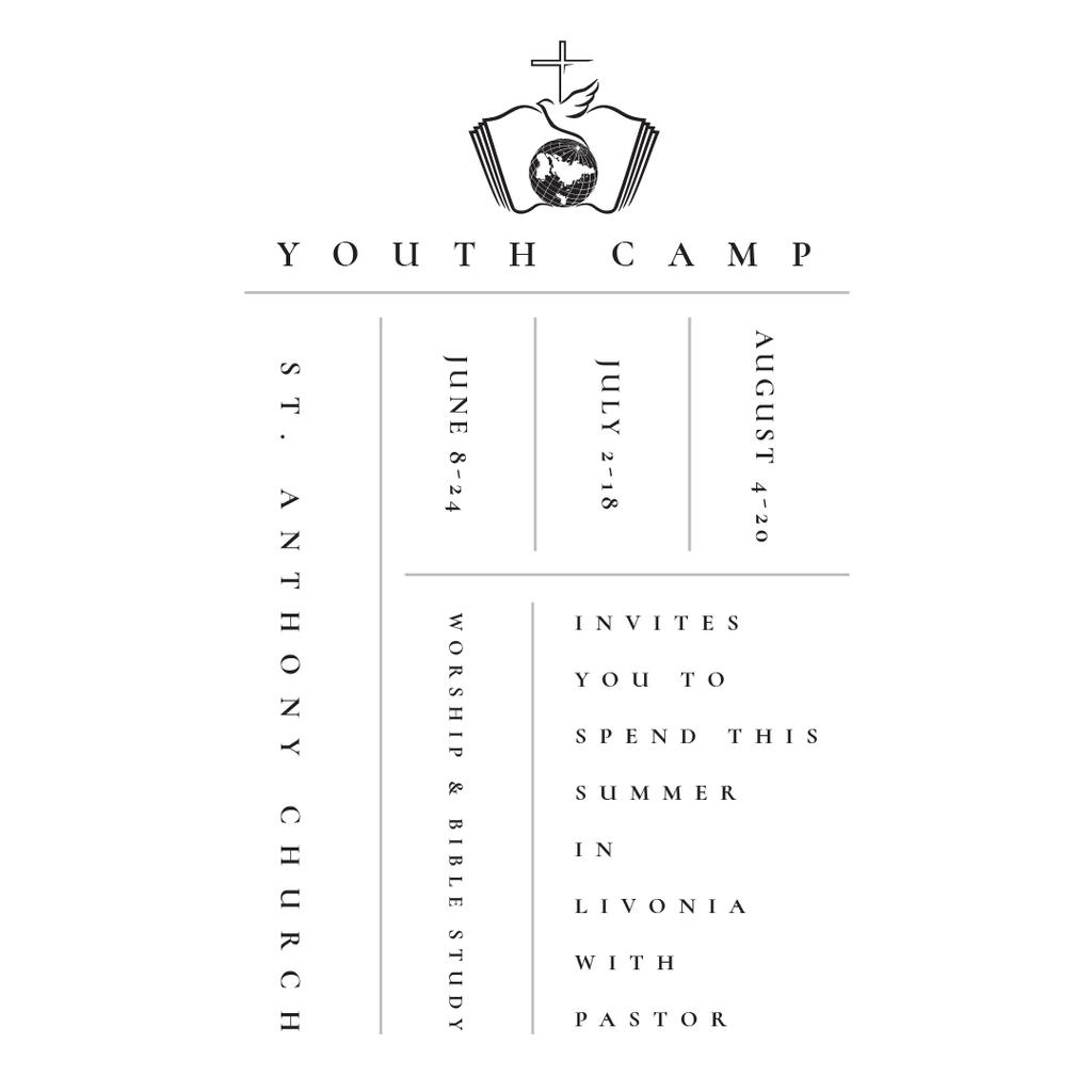 Youth religion camp Promotion in white — Créer un visuel