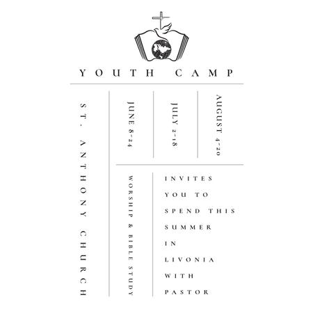 Plantilla de diseño de Youth religion camp Promotion in white Instagram AD