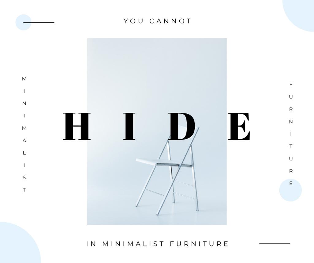White minimalistic chair — Create a Design