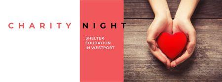 Plantilla de diseño de Corporate Charity Night Facebook cover