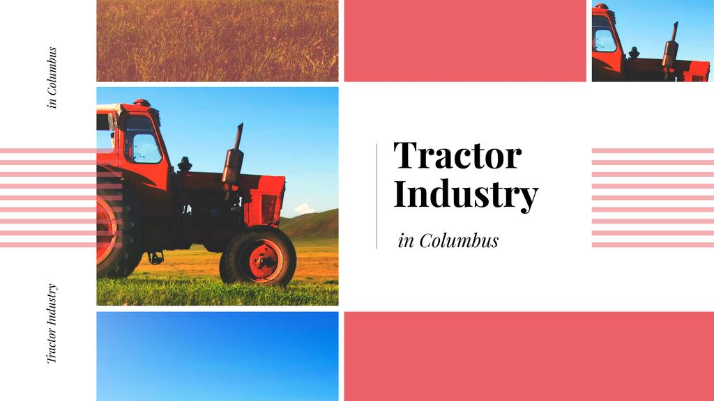 Tractor working in field — Create a Design