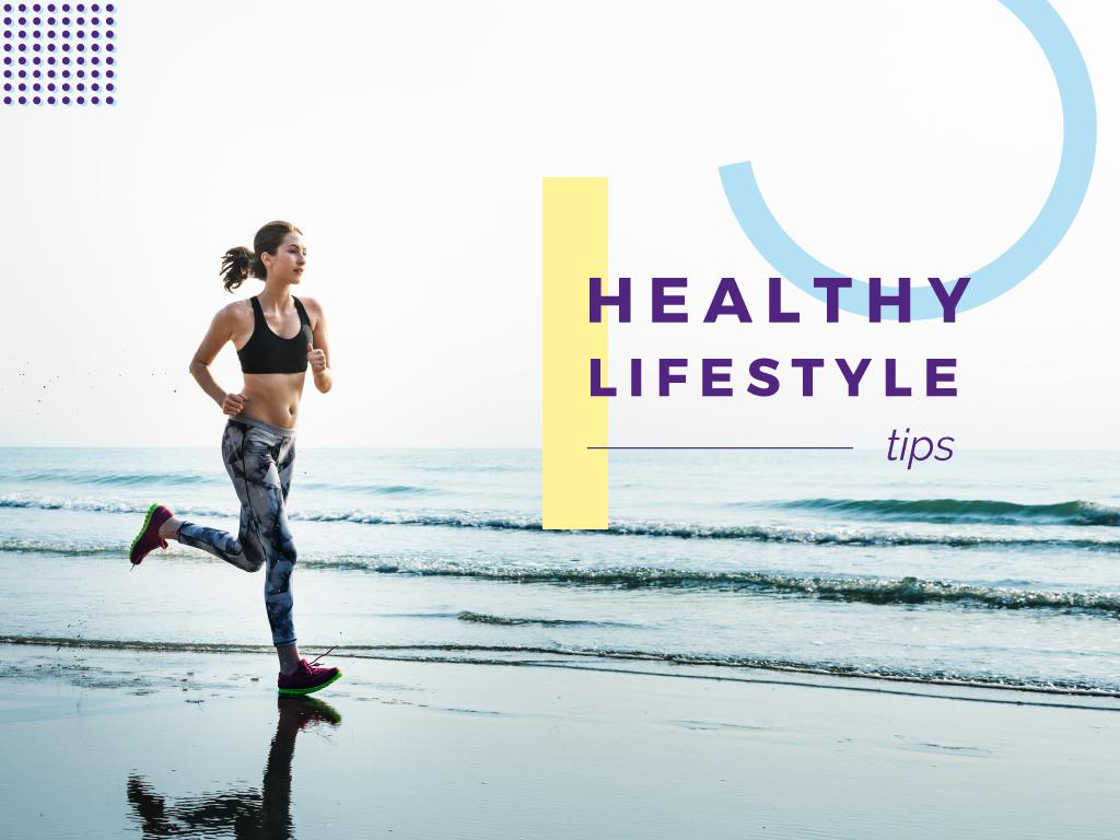 Healthy lifestyle tips — ein Design erstellen