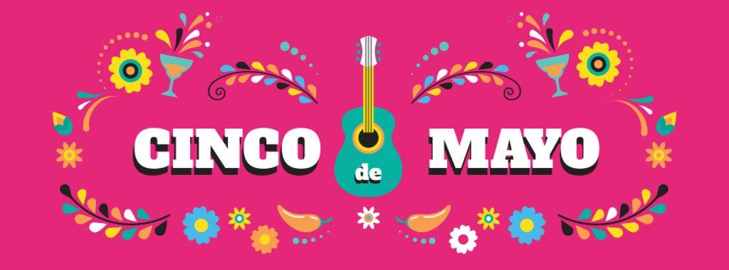 Cinco de Mayo holiday Facebook cover Modelo de Design