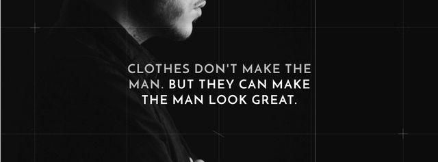 Plantilla de diseño de Citation about a man clothes Facebook cover