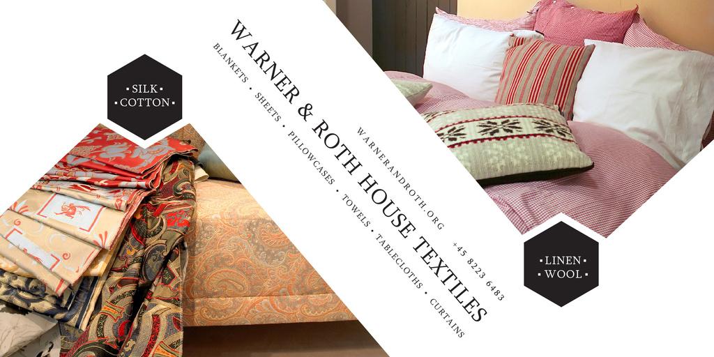 Ontwerpsjabloon van Image van Warner & Roth House Textiles