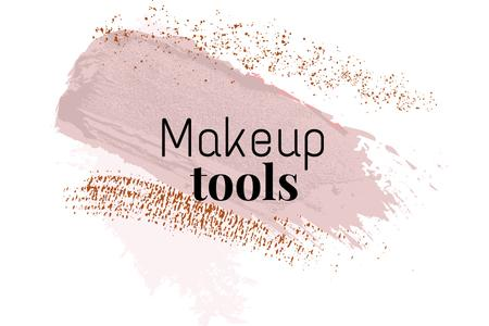 Makeup tools ad with pink smudges Label – шаблон для дизайну