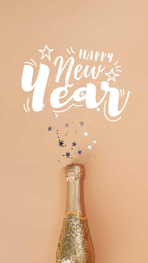 New Year Party Golden Champagne — Crear un diseño