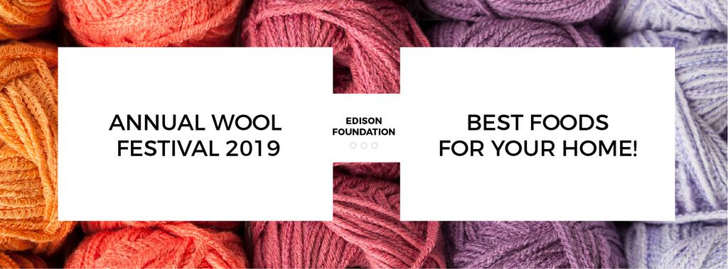 Knitting Festival Invitation with Wool Yarn Skeins — Modelo de projeto