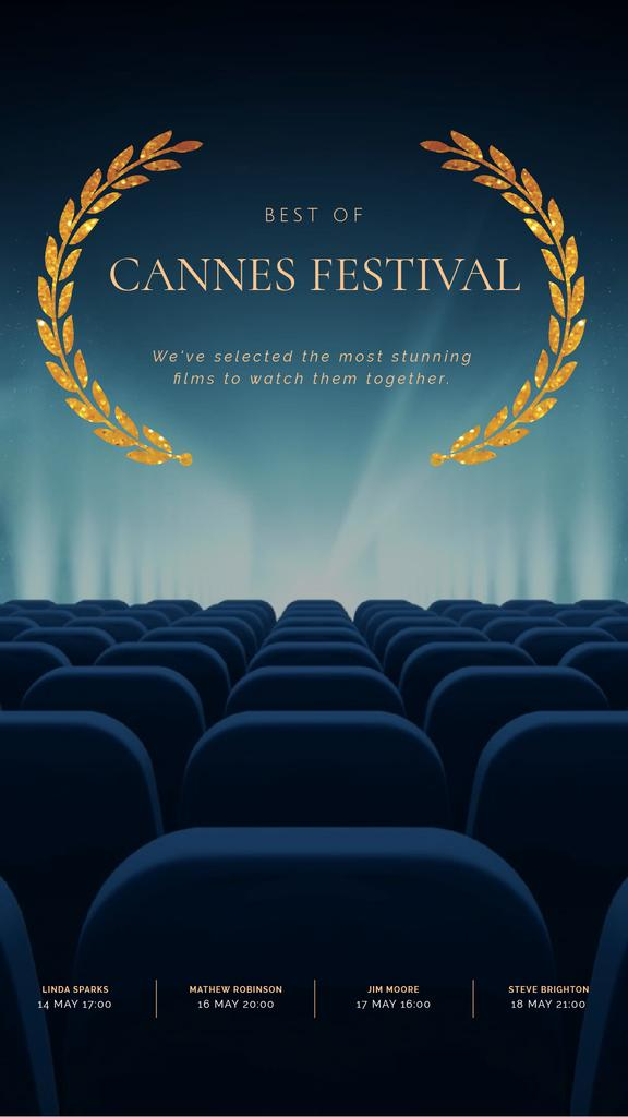 Cannes Film Festival Seats in Cinema in Blue — Создать дизайн