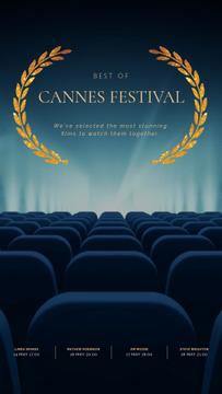 Cannes Film Festival Seats in Cinema in Blue | Vertical Video Template
