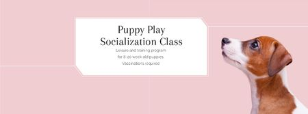 Puppy play socialization class Facebook coverデザインテンプレート