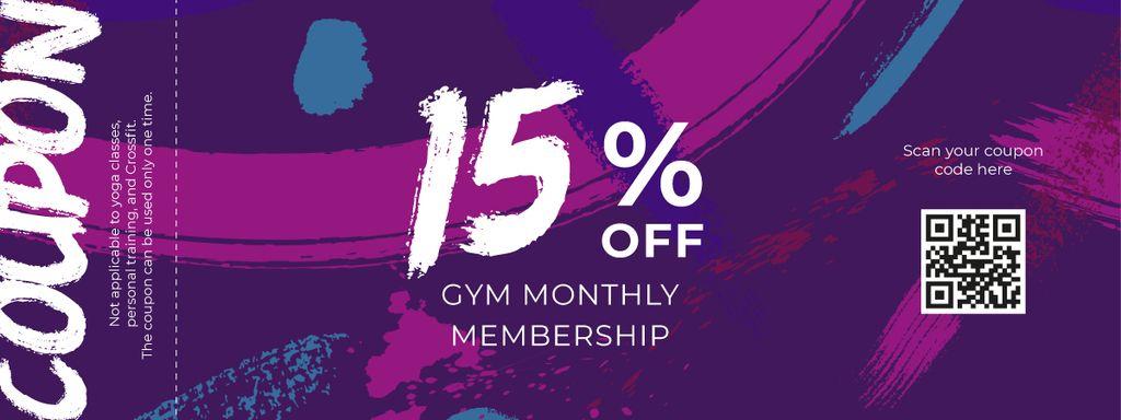 Gym Membership Offer on Purple - Vytvořte návrh