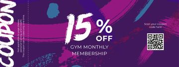 Gym Membership Offer on Purple