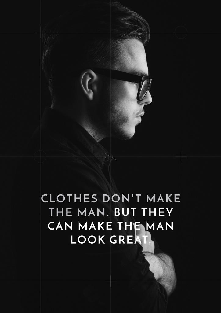 Citation about a man clothes — Create a Design