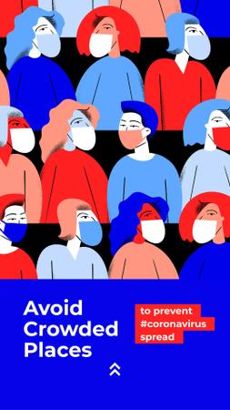 Plantilla de diseño de Plea to avoid crowded places during Quarantine Instagram Story