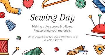Sewing day event Annoucement