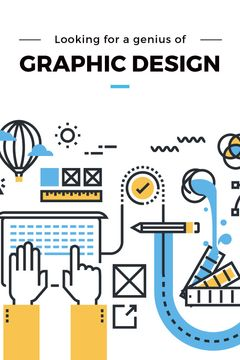 Graphic Design job Vacancy with Interface icons