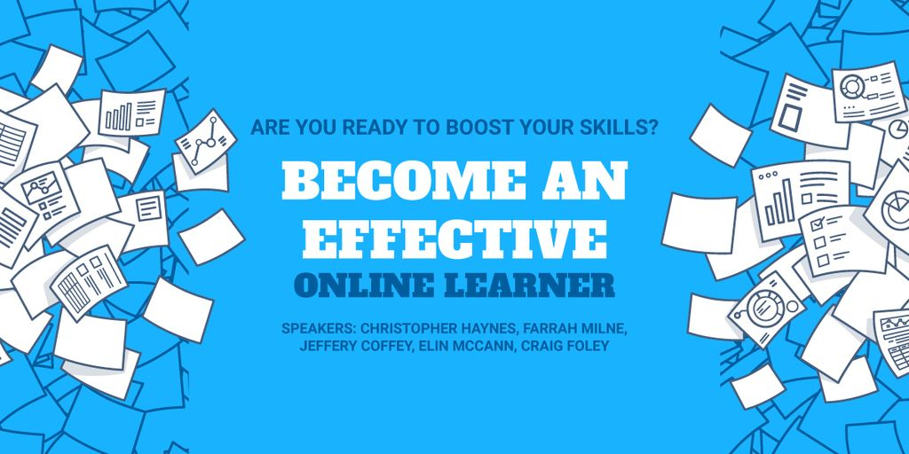 Online learning event announcement — Crear un diseño