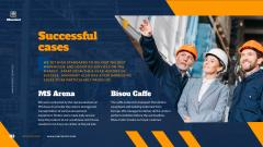 Warehouse Services Ad with Man in Hard Hat
