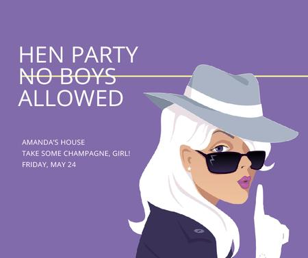 Plantilla de diseño de Hen Party invitation with Stylish Girl Facebook