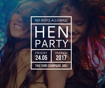 Hen Party invitation with Girls Dancing