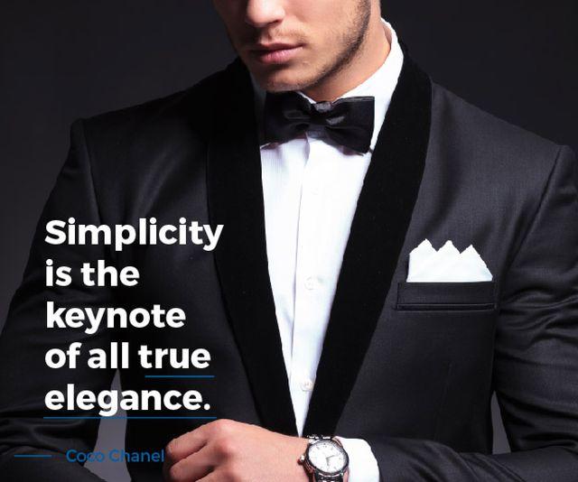Modèle de visuel Elegance Quote Businessman Wearing Suit - Medium Rectangle