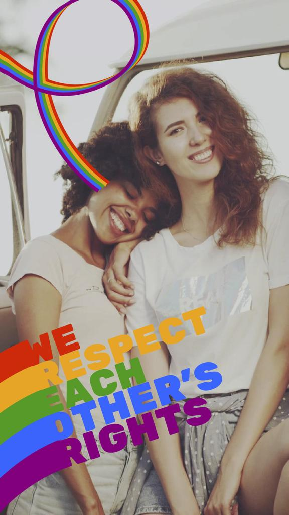 Pride Month Celebration Two Smiling Girls — ein Design erstellen