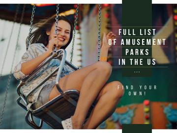 Smiling girl riding on Carousel