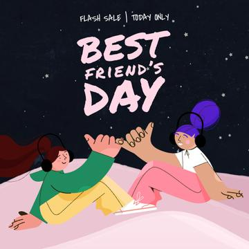 Best Friends Day Sale Female Friendship Concept