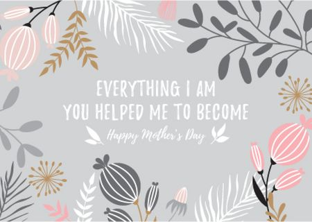Modèle de visuel Happy Mother's Day postcard - Card