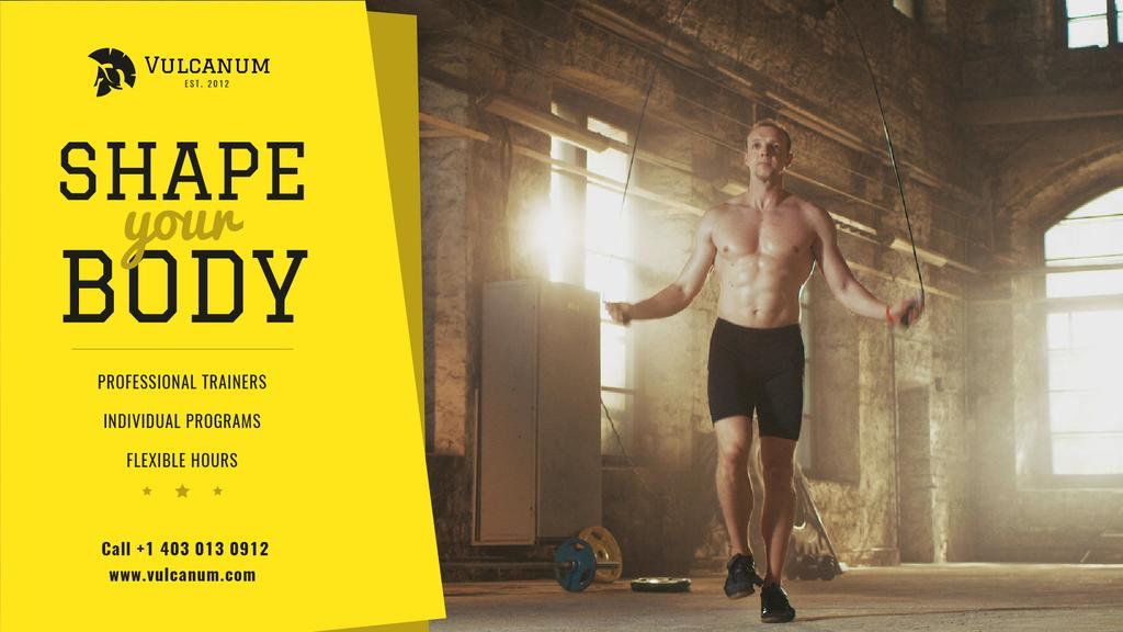 Sports Inspiration with Man jumping on Skipping Rope — Maak een ontwerp