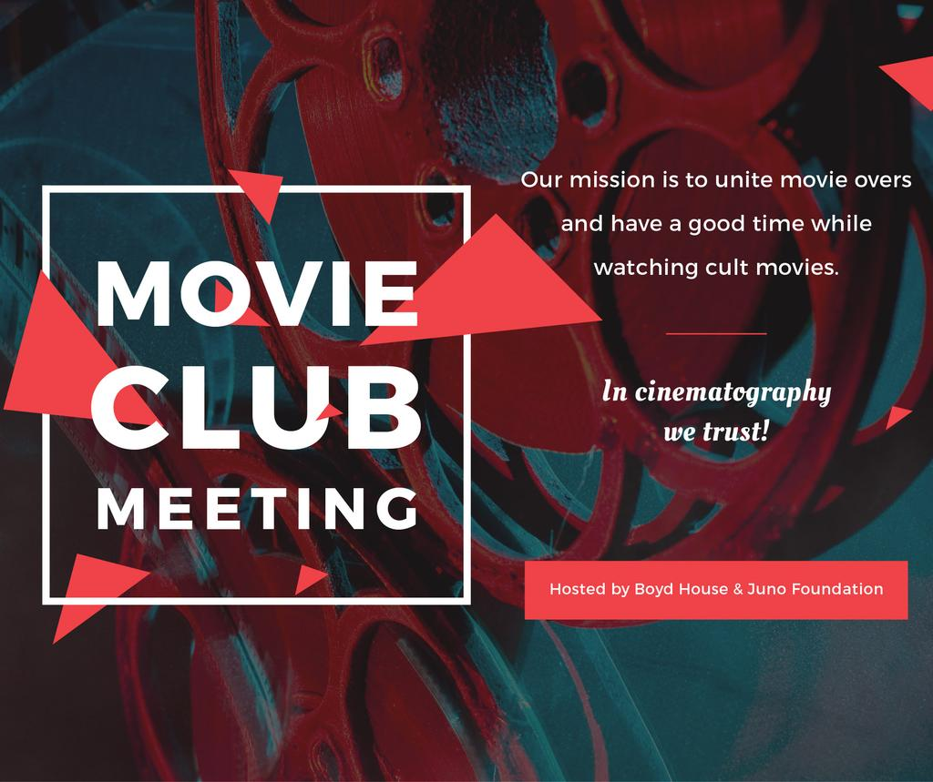 Movie Club Meeting Vintage Projector — Modelo de projeto