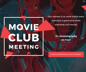 Movie Club Meeting Vintage Projector | Facebook Post Template