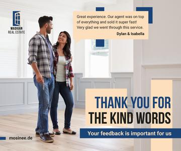 Real Estate Ad Couple in New Home | Facebook Post Template