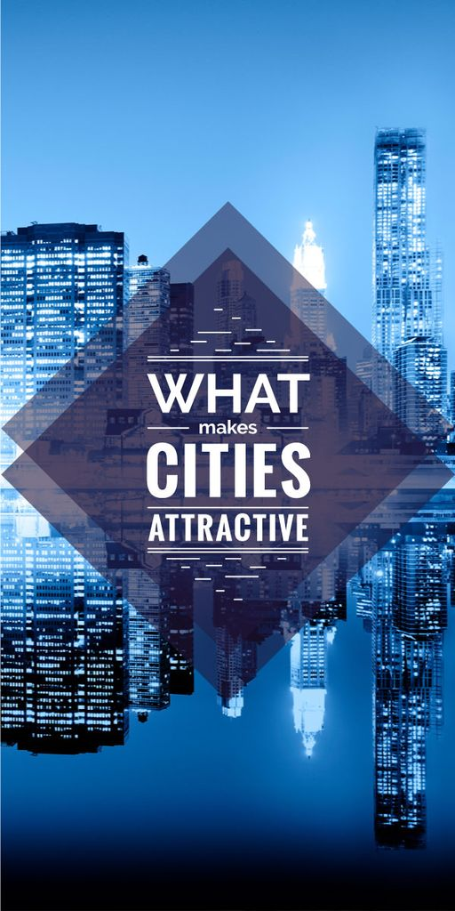 what makes cities attractive poster — Створити дизайн