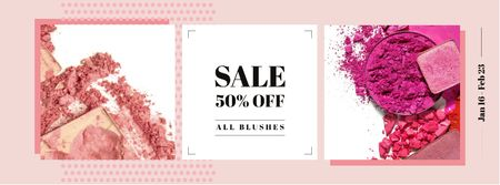 Modèle de visuel Makeup cosmetics set Offer - Facebook cover