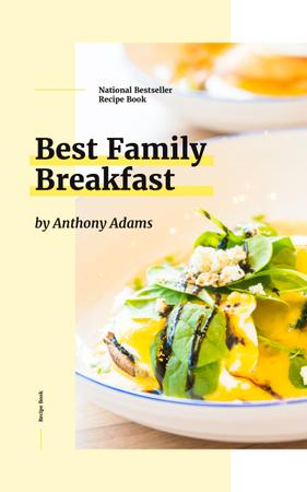 Breakfast Recipes Meal with Greens and Vegetables Book Cover Design Template