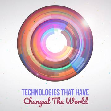 Bright rotating circles and spheres