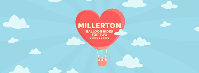 Template di design Hot air balloon flying in the sky Facebook Video cover