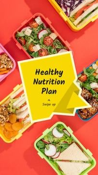 Nutrition Plan menu with Healthy Food