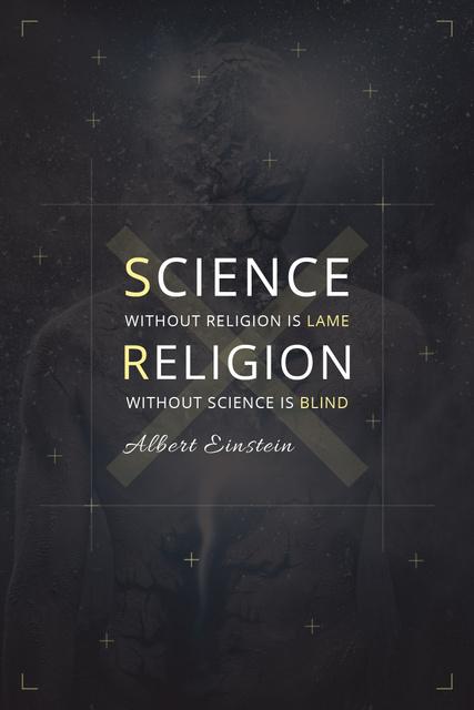 Citation about science and religion Pinterest Tasarım Şablonu