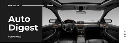 Ontwerpsjabloon van Email header van Stylish Car interior
