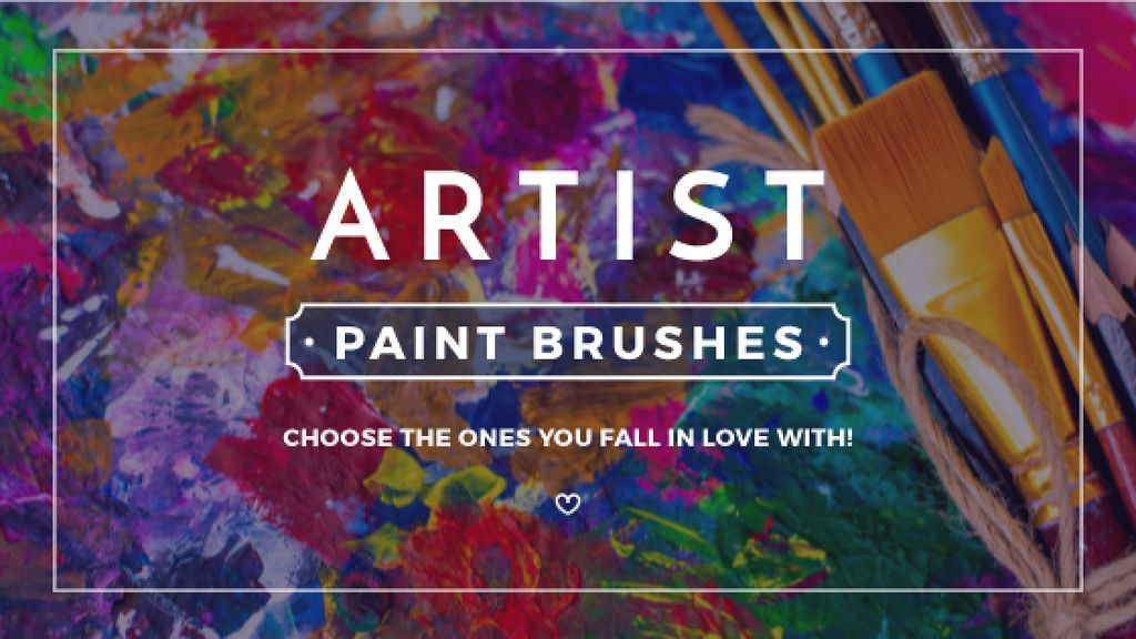 artist paint brushes poster — Create a Design