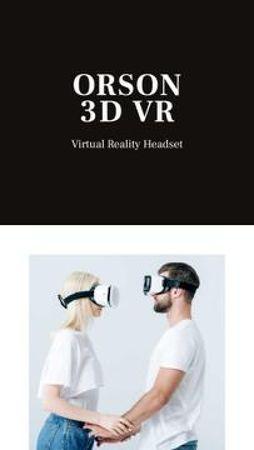 Modèle de visuel Virtual Reality headset overview - Mobile Presentation