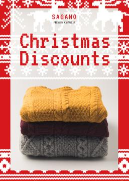 Christmas Sale Stack of Sweaters | Flyer Template